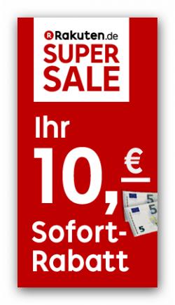 10 € Ratuten Super Super Sale Gutschein bis Ende des Tages (MBW 75 €)