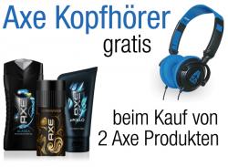 2 oder mehr Axe Produkte kaufen und Original Axe Kopfhörer gratis @Amazon