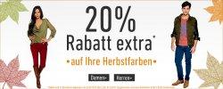 20% Extra-Rabatt auf Herbstfarben bei dress-for-less (auch auf bereits reduzierte Artikel)