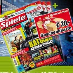 20€ MediaMarkt Gutschein erhalten bei Probeabo 3xComputerbild Spiele für 17,40€