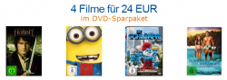 4 DVD´s für 24 Euro + 14 weitere Blu-ray und DVD Aktionen bei Amazon
