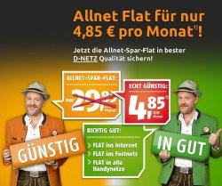 4 Monate Klarmobil Allnet-Spar-Flat für nur 4,85€/ Monat im D-Netz