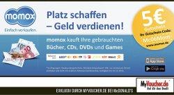 5€ Momox Gutschein für Neukunden