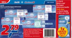 [Lokal @real] 5x Blend-a-med Pro Expert Zahncreme kaufen + Oral-B Vitality Zahnbürste (Wert: 18€) gratis dazu