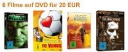 6 Filme auf DVD für nur 20 Euro Amazon