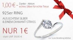 925er Silberring + z.B. Ohrringe gratis (+4,95 Versand) durch 5€ Gutschein @Silvity