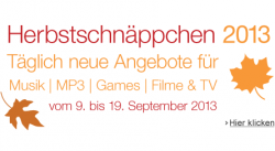 Ab Montag 09.09.2013 11 Tage lang Herbstschnäppchen @Amazon