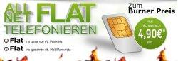 Allnet-Flat für nur 4,90 Euro pro Monat @modeo.de