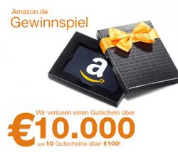 Amazon Gutschein im Wert von 10.000€ gewinnen
