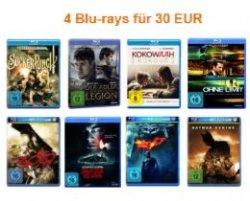 Amazon kontert Müller: 4 Blu-rays für 30€