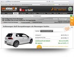 ADAC-Test: Neuwagen-Schnäppchen im Internet