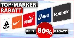 Bis zu 80% Rabatt auf Adidas, Nike, Puma, Reebok & Asics @ Plutosport