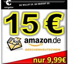 Congstar SIM mit 10€ Guthaben + 15€ Amazon für 10€ @eBay
