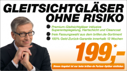 Gleitsichtbrille mit den neuen, besseren Gleitsichtgläsern zum Sensationspreis von 199 Euro @brillen.de
