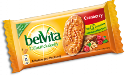 Gratis BelVita Cranberry Frühstückskekse Morgens an diversen Bahnhöfen