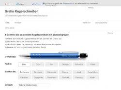 Gratis: schöner Kugelschreiber mit Gravur und Icon – Versandkostenfrei
