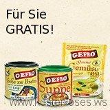 Gratis Test-Paket mit 6 Produkten von GEFRO