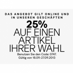 H&M Sale mit bis zu -50% + 25% Gutschein + 5€ Gutschein [Online & Offline!]