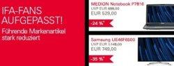 IFA Sale bei ebay: 133 Elektronik Markenartikel bis zu 66% reduziert, Beispielangebote im Dealtext
