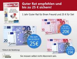 Jahresabo Guter Rat für effektiv 2,60€