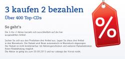 Kauf 3 zahl 2 – Aktion mit über 400 Top-CDs im Angebot bei Thalia.de