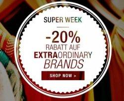 Kleidung bis zu 20% reduziert bei Extra Ordinary Brands bie Yoox