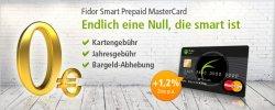 kostenlose Prepaid MasterCard + 1,2% Verzinsung @ fidor Bank