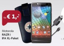 limitierte sparhandy Angebote zur IFA noch bis Mittwoch (heute Motorola RAZR i IFA XL-Paket für 1€) +  19,99€ mtl.