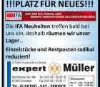[Lokal@Grünstadt bei expert Müller] IFA Ausverkauf – Einzelstücke und Restposten radikal reduziert!