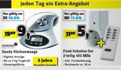 [Lokal in den Conrad Filialen] Aktionswoche: jeden Tag ein Schnäppchen z.B. Montag: Quarz Mini-Wecker für 0,90€