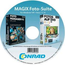 Magix Foto Manager MX Deluxe + Fotos auf DVD easy SE für 0,00€ zzgl. 5,95 @Conrad.de