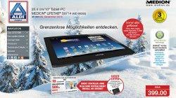 MEDION 10 LIFETAB S9714 mit Quadcore-Prozessor 32GB intern B-Ware nur 276€ sonst bei Aldi 399€