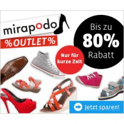 Mirapodo | SALE mit bis zu -80% + 9€ Gutschein