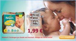 Pampers NewBorn nur 1,99€ im Angebot bei Baby-Markt