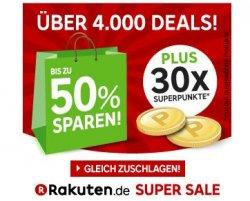 Rakuten Super Sale (ähnlich Amazon Cybermonday) bis 22.09. 18 Uhr bis zu 90% Rabatt