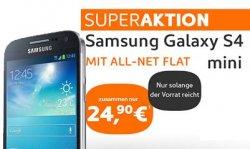Samsung Galaxy S4 mini mit All-Net Flat für zusammen nur 24,90€ pro Monat @simyo.de