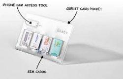 SIM Karten Hülle (SIM CARD HOLDER) für die Brieftasche: 3,83€ ($5,00) oder 2,30€ ($3,00)