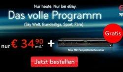Sky Abo (Sky Welt + 3 Premium Pakete) für 34,90€/Monat f. 24 Monate Preisbindung wieder verfügbar