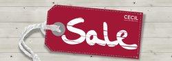 SSV @ Cecil, Sale, reduzierte Kleidung, z. B. geblümte Print-Bluse 25 € statt 35,99 €