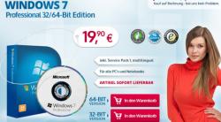 Windows 7 Home Premium und Professional 64 Bit nur 28,80€ Inc. Versand @pcfritz