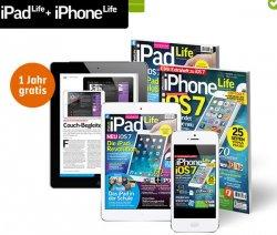 1 ganzes Jahr iPhone Life oder iPad Life Abo kostenlos bei Gravis so lange Vorrat reicht