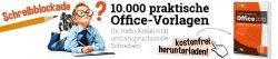 10.000 Office Vorlagen für Microsoft Office 2010 zum kostenlosen Download @franzis.de