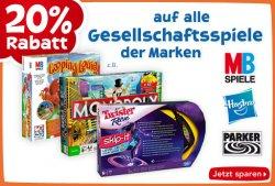 20% Rabatt auf Gesellschaftsspiele – Hasbro,Parker,MB Spiele z.B. Looping Louie, Monopoly @ToysRus