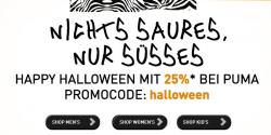25% Halloween Rabatt mit Gutschein bei Puma – nur heute!