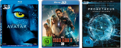 3D Blu-rays zum spitzen Preis @Cede, z.B. Avatar 3D Blu-ray für 16,99€