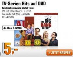 3DVDs (Big Bang Theory, Alf & Two and a Half Man Staffel 1 ) für 11,02€ inkl. Versandkosten Dank Gutschein od. 9,03€ bei Versand in Filiale