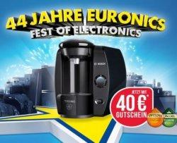 44 Jahre Euronics – Heute Bosch TASSIMO TAS 4012 für 49,00€ + 40€ Gutschein (Idealo 64,97€)