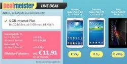 5 GB Datenflat inkl. Tablet für nur € 11,91 – Deal nur bis Donnerstag @sparhandy.de bzw. Dealmeister