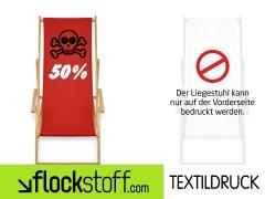 50% auf individuell bedruckten Liegestuhl mit Gutscheincode