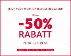 50% Rabatt auf Einzelteile @C&A